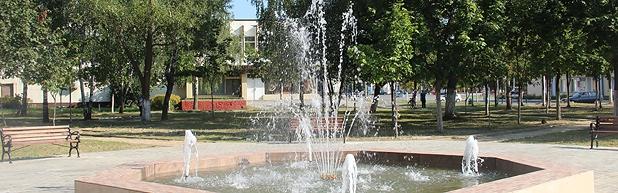 Фонтан в городе Буда-Кошелево