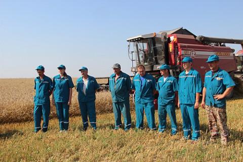 Honoring of harvester operator Anastasiya Kozlova