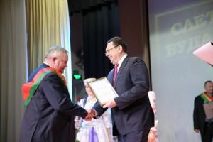 Церемония награждения победителей ежегодного социально-экономического соревнования среди трудовых коллективов предприятий и организаций Будакошелевщины